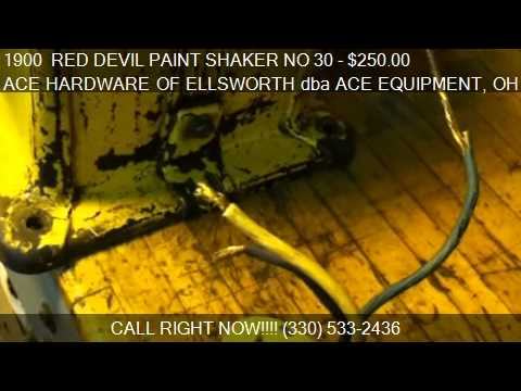 1900  RED DEVIL PAINT SHAKER NO 30 CONDITIONER For Sale In C