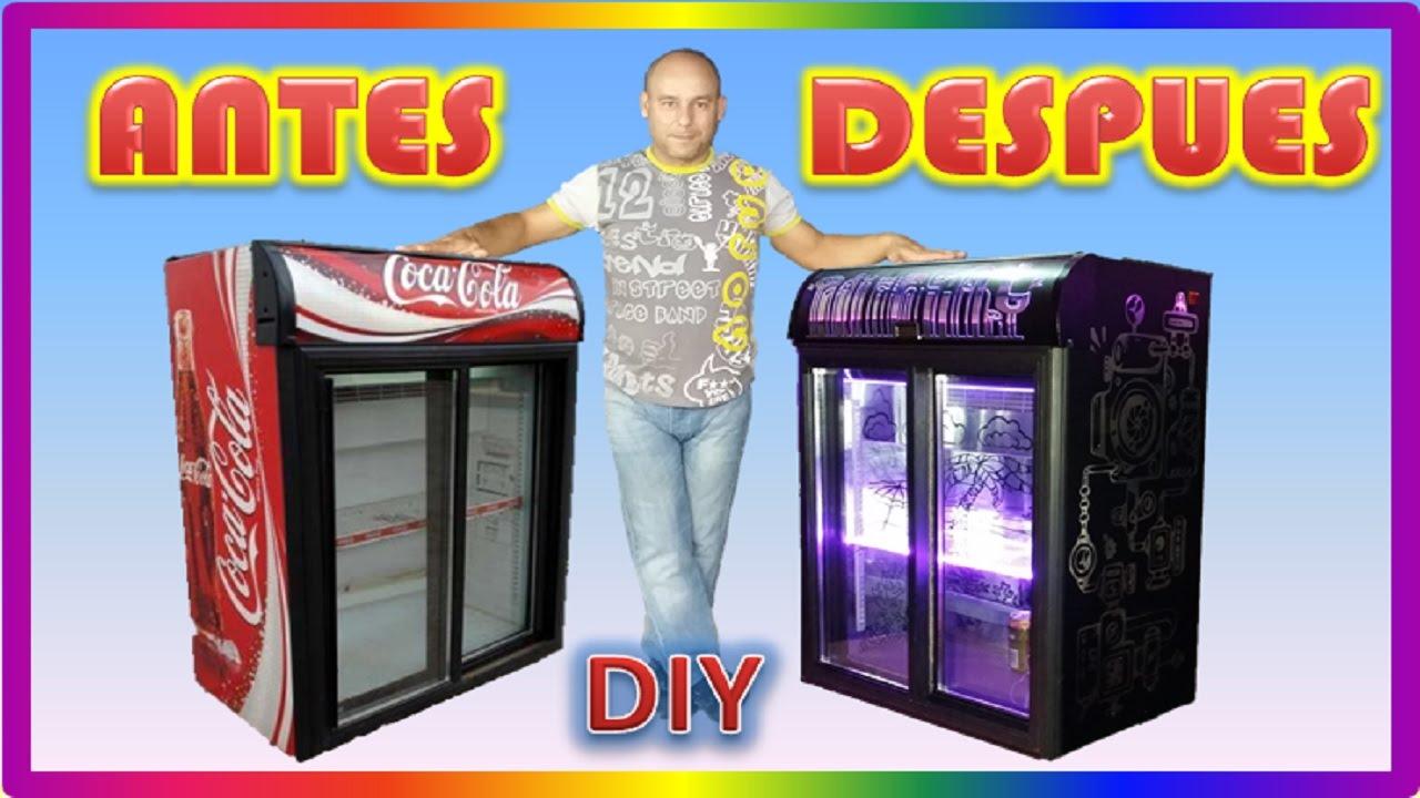 Diy restauracion trasformacion nevera coca cola youtube - Nevera coca cola retro ...