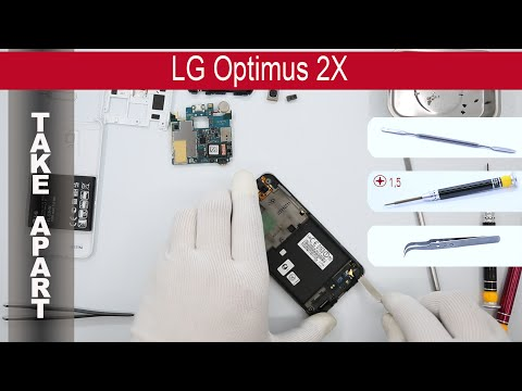 How to disassemble 📱 LG Optimus 2X P990, Take Apart, Tutorial