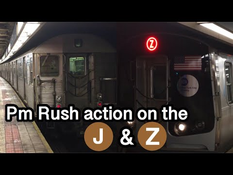 ᴴᴰ PM Rush Hour J & Z train action