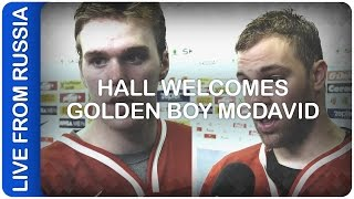 Hall welcomes golden boy McDavid | #IIHFWorlds 2016