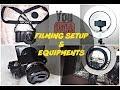 SONY a5000 | FILMING SETUP & EQUIPMENTS (Editing, Lights, Camera)