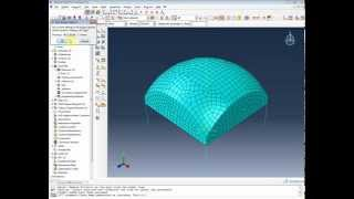 FEA - Abaqus - Dome Tutorial - Shell and Truss Elements