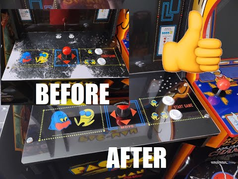 Restoring the control panel on my Arcade1Up Pac-Man cabinet from TechnoBilly
