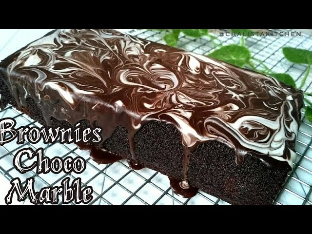Brownies Kukus Choco Marble Cuma 2 Telur Lembut dan Nyoklat banget
