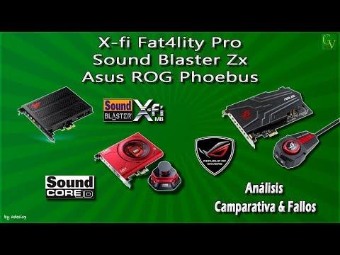 Review y comparativa X-fi Fatality pro, Sound Blaster ZX y Asus ROG Phoebus Español