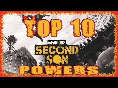 INFAMOUS SECOND SON | TOP 10 POWERS | GOOD & EVIL | FULL HD