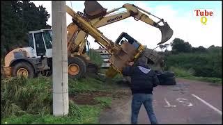 Amazing Heavy Equipment  Fails & Amazing Truck Driving  Skills