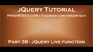jQuery live function