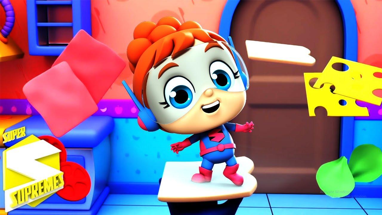 Esta es la forma | Canciones infantiles | Educación | Super Supremes Español | Dibujos animados