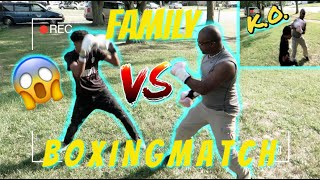 FAMILY BOXING MATCH*MY DAD KNOCKED OUT MY BROTHER*