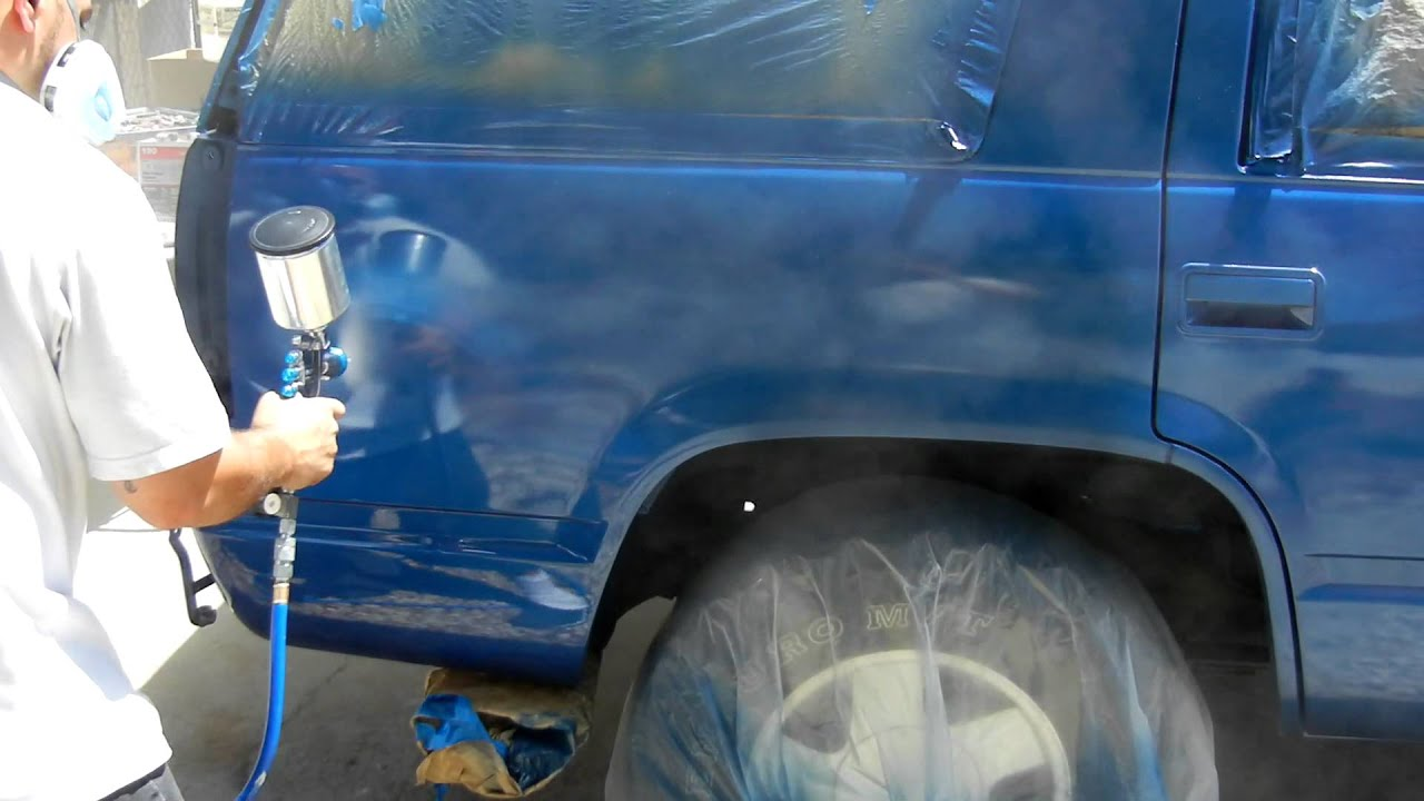 painting your car outside youtube