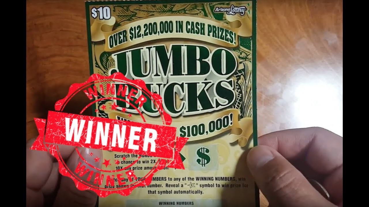 WIN!!! JUMBO BUCKS ARIZONA SCRATCH OFF LOTTERY AZ