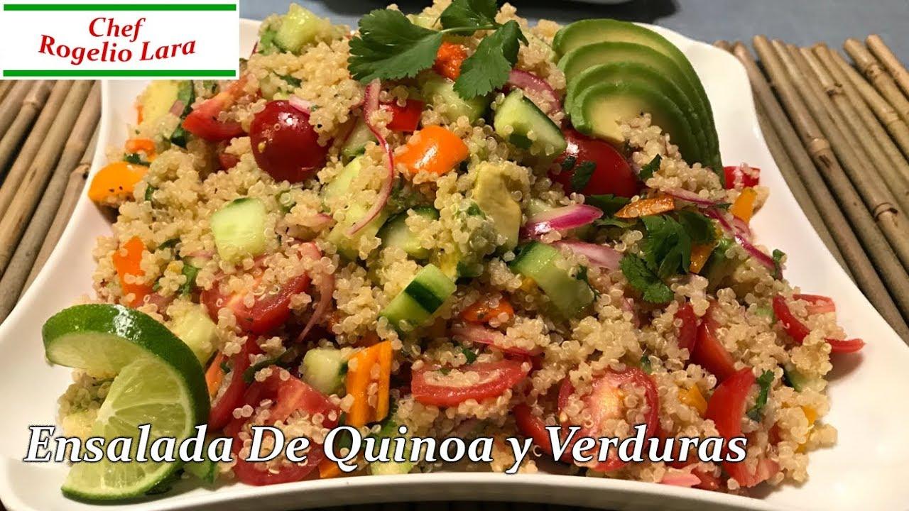 Ensalada de quinoa receta deliciosa youtube for Cocinar 1 taza de quinoa