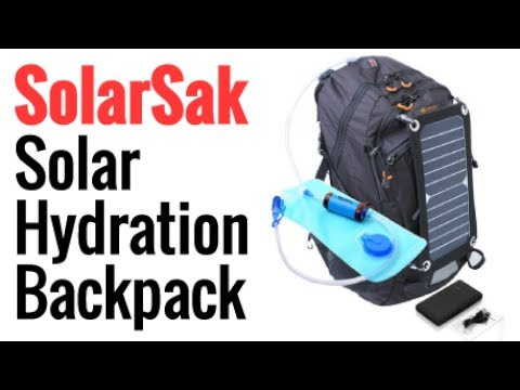 SolarSak Solar Hydration Backpack With Built In Solar Panel 503b4ffdf8eac