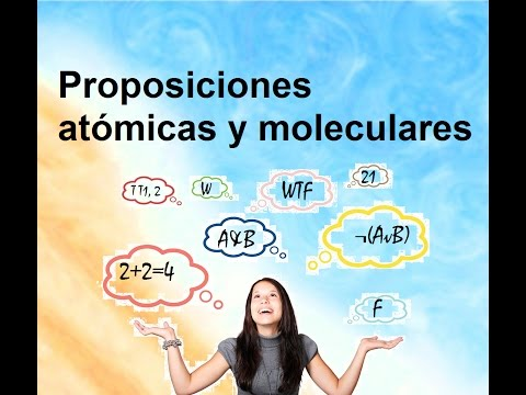 Proposiciones atómicas y proposiciones moleculares