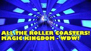 All The Roller Coasters at Magic Kingdom! Walt Disney World Onride POV 4K 60 FPS