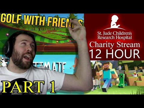 GOLF WITH FRIENDS AND MORE!!! | 12 Hour St Jude Livestream Part 1