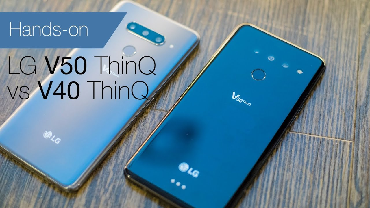LG V50 ThinQ vs V40 ThinQ comparison