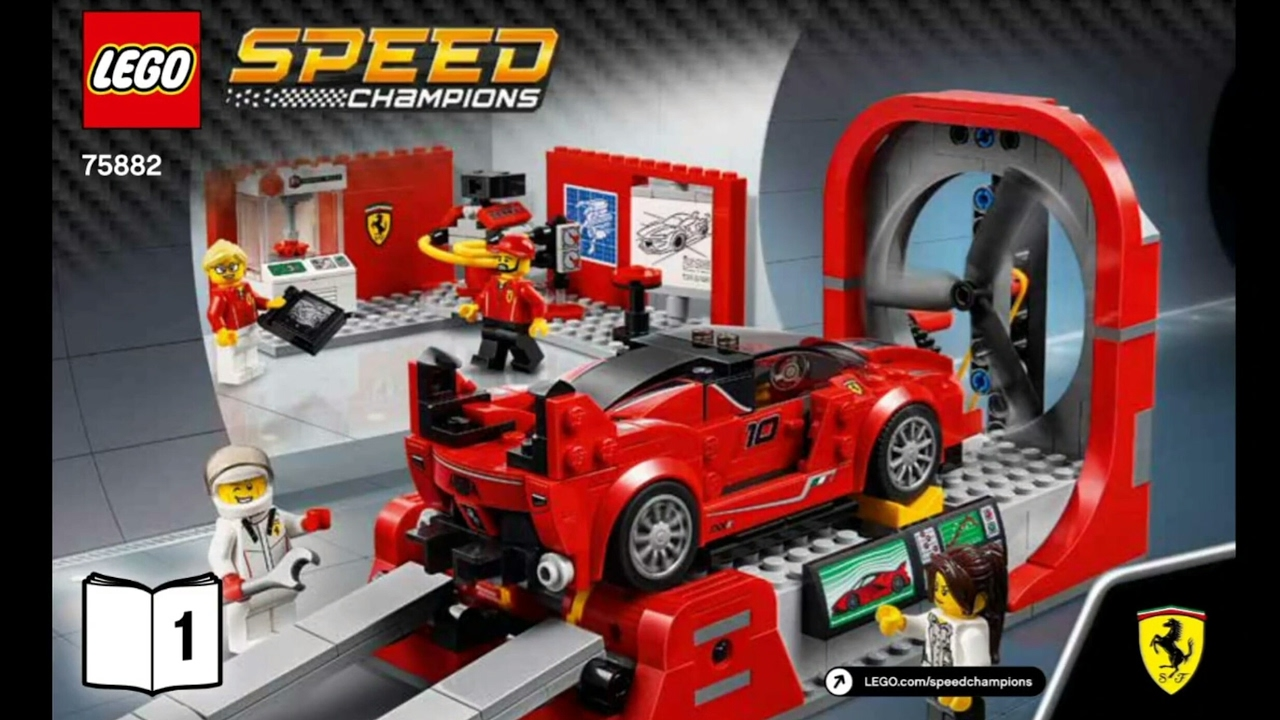 2017 lego speed champions ferrari fxx k development center instruction 75882 new youtube. Black Bedroom Furniture Sets. Home Design Ideas