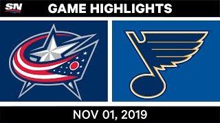 NHL Highlights   Blue Jackets vs Blues – Nov. 1, 2019