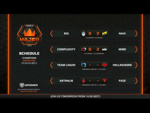 FACEIT Major 2018 | Champions - Day 1 Videosu