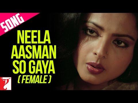 Neela Aasman So Gaya (Female) Song | Silsila | Amitabh Bachchan | Rekha