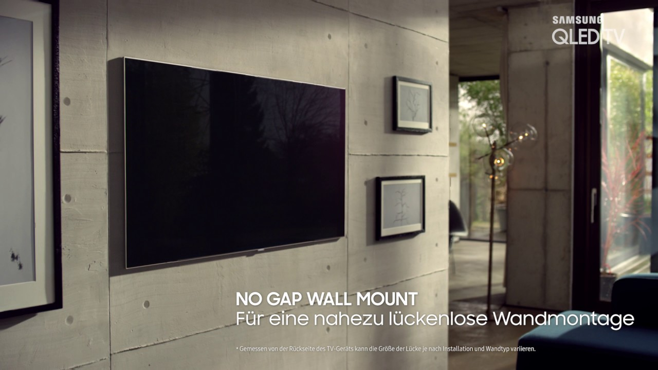 Samsung qled tv no gap wallmount youtube - Soporte tv samsung ...
