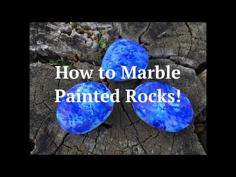 How to Marble Painted Rocks