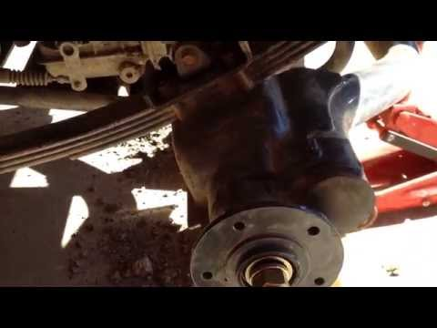 RTV900 Rear Axle Repair The Axle Support Bar Removal Idea