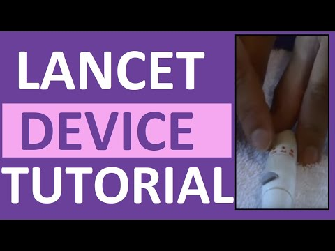 How To Use A Lancet Device Loading A Lancet Nursing Clinical