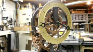 Wood Gear Clock Part 9