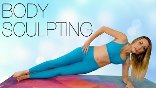 Total Body Sculpt with Becca! Weight Loss Workout Yoga & Pilates, Beginners Fitness Routine