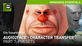 Character Transfer Part 7: Creating Presets in Omniverse Audio2Face