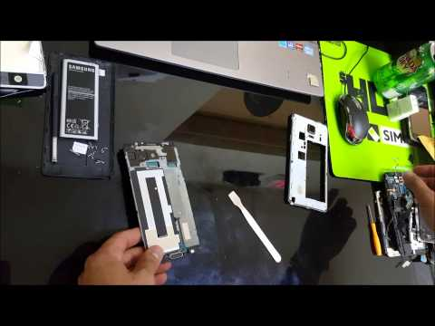 Samsung Galaxy Note 4 - How To Take Apart & Replace LCD Glass Screen Replacement
