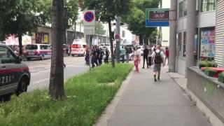 Polizeieinsatz, Wien, Lützowgasse.