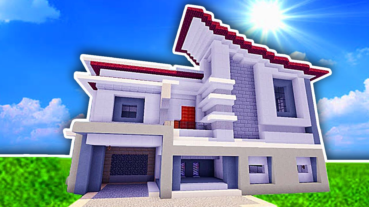 minecraft city casa moderna 2018 youtube
