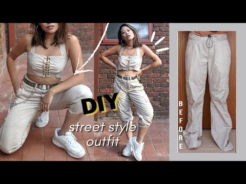 DIY UPCYCLE STREET STYLE OUTFIT