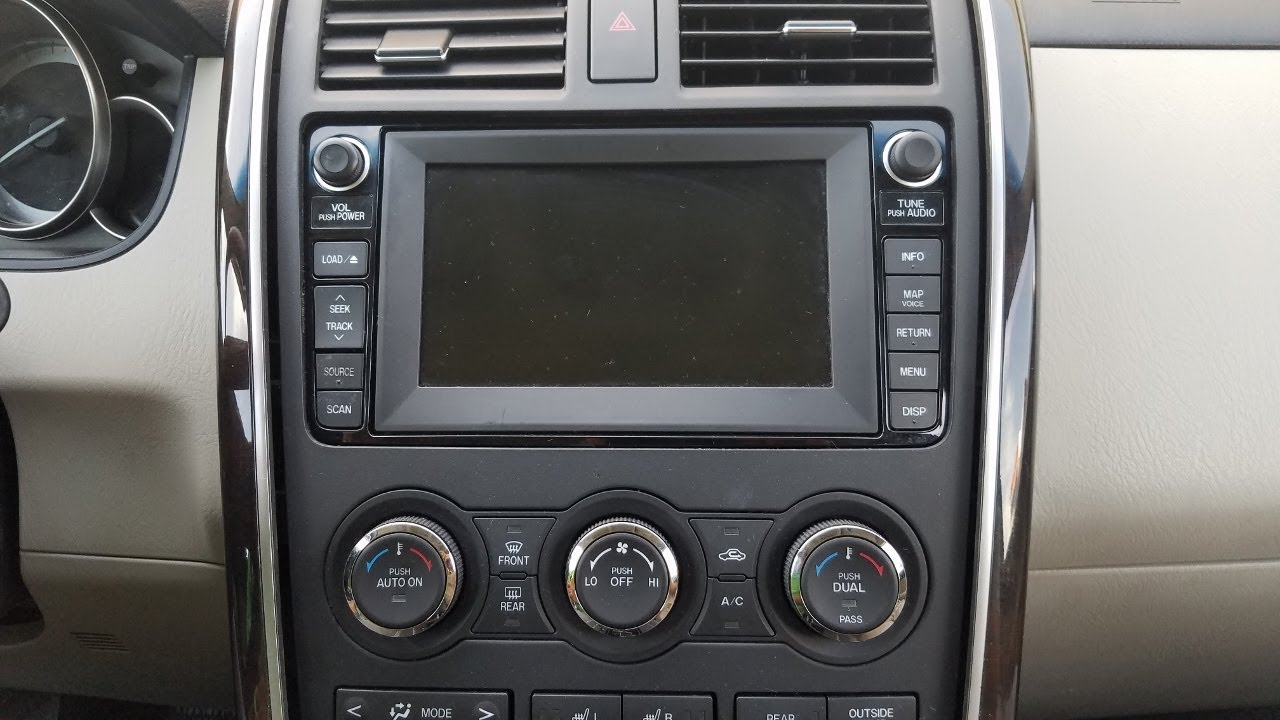 How To Remove Radio Navigation Display From Mazda Cx9 2010 For Repair Youtube