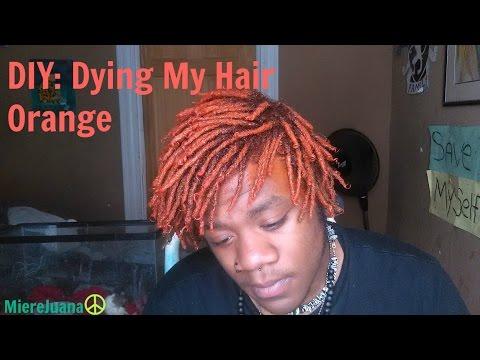 DIY: Dying My Hair Orange Dreadlocks | MiereJuana™ - YouTube