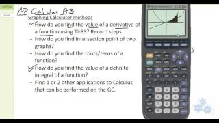AP Calculus AB - Graphing Calculator tips and tricks (TI-83 Plus)