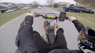 pit bike shenanigans | wheelies past cops getting my key stolen