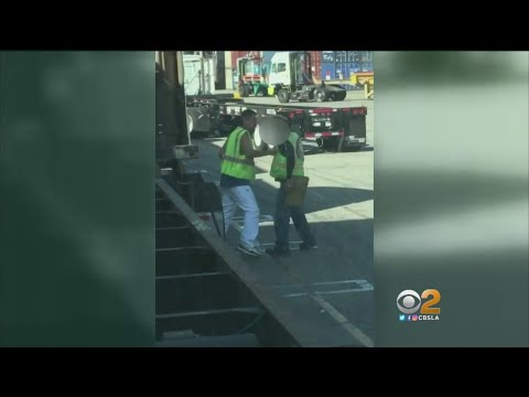 Trucker, Longshoreman Caught On Camera Fighting At Port Of Los Angeles