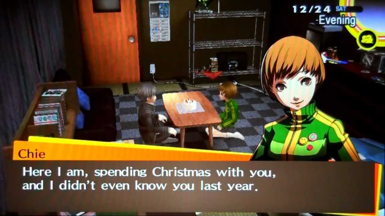 Persona 4 Golden - Christmas Eve with Chie (Voiced) - YouTube