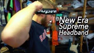 Supreme Week 8 & 9 F/W 18 Printed Arc S/S top + New Era headband