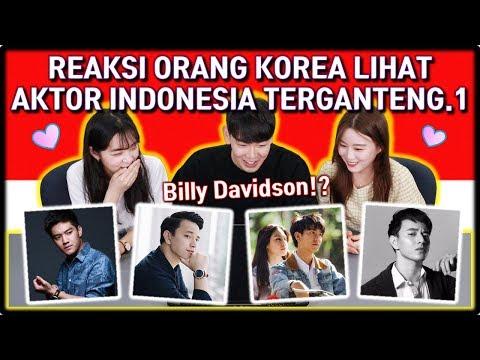 [PART.1] REAKSI ORANG KOREA LIHAT AKTOR/ARTIS INDONESIA TERGANTENG.1   Reaction   React to Indonesia