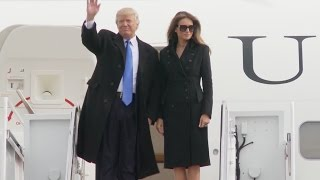 Trump Arrives In DC For Inauguration