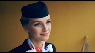 видео: Самая красивая бортпроводница