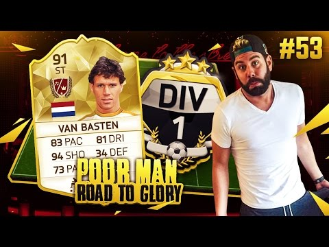 LEGEND VAN BASTEN DIVISION 1 SQUAD BUILDER - POOR MAN RTG #53 - FIFA 16 Ultimate Team