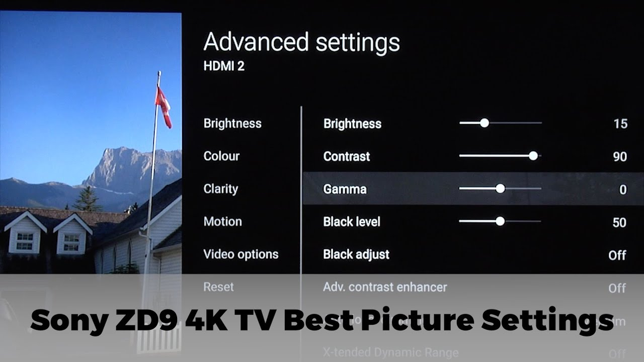 Sony KD-65ZD9 Best TV Picture Settings   AVForums
